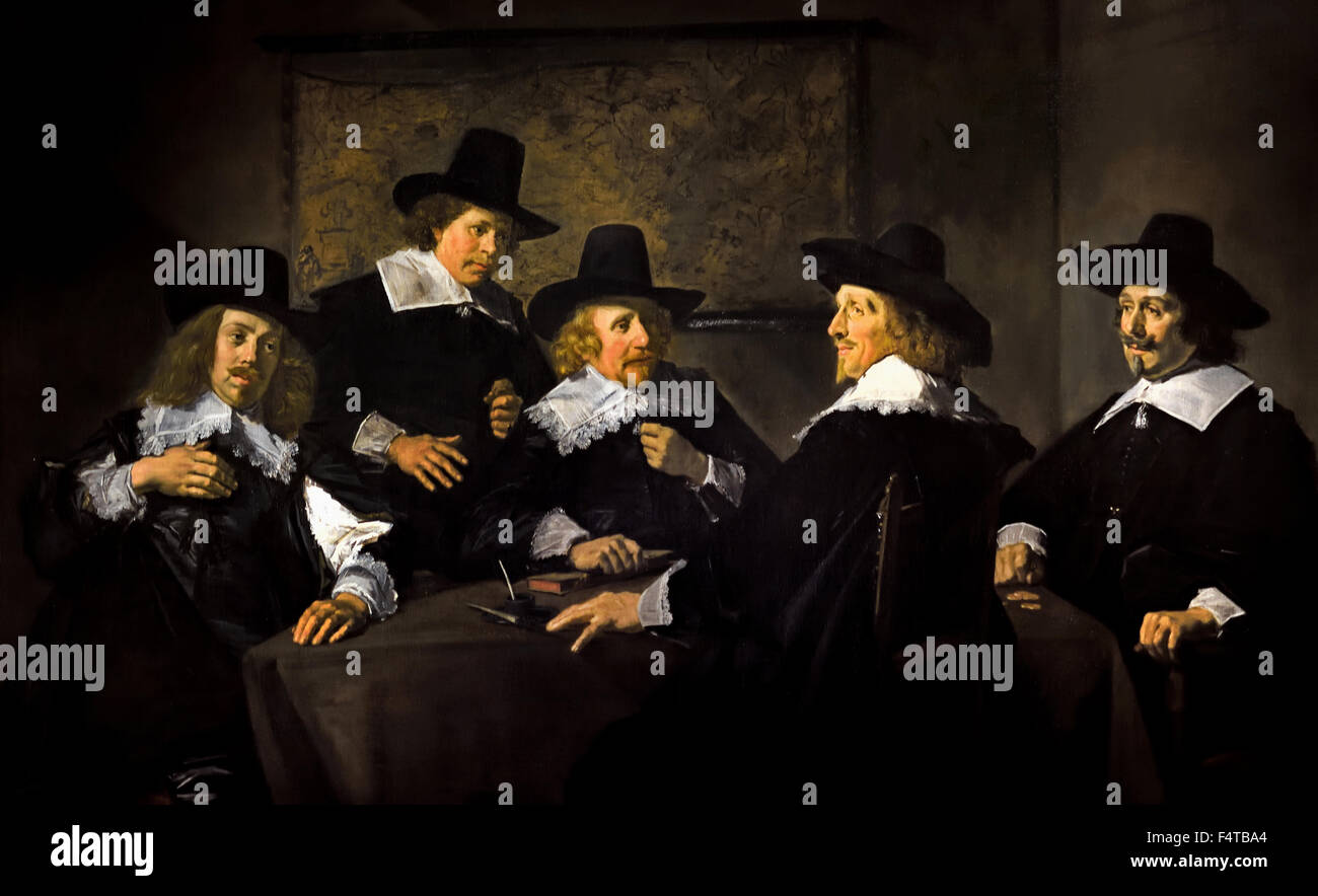 Frans Hals  1582-1666  Painting Regents of the St Elisabeth Hospital Stock Photo