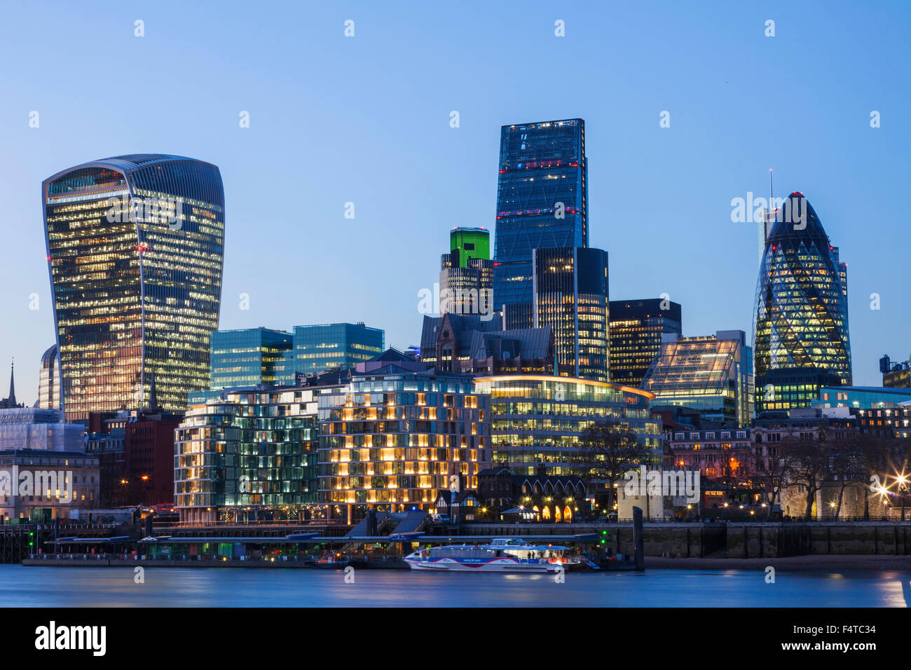 England, London, City, Skyline - Stock Image