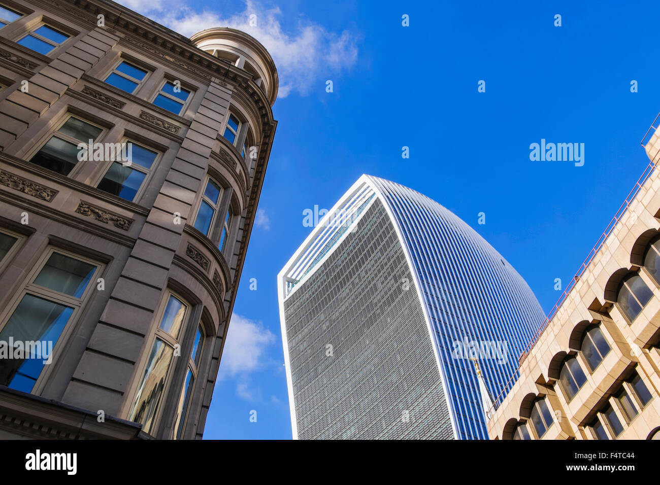 England, London, City, 20 Fenchurch Street aka The Walkie-Talkie Building, Architect Rafael Vinoly Stock Photo