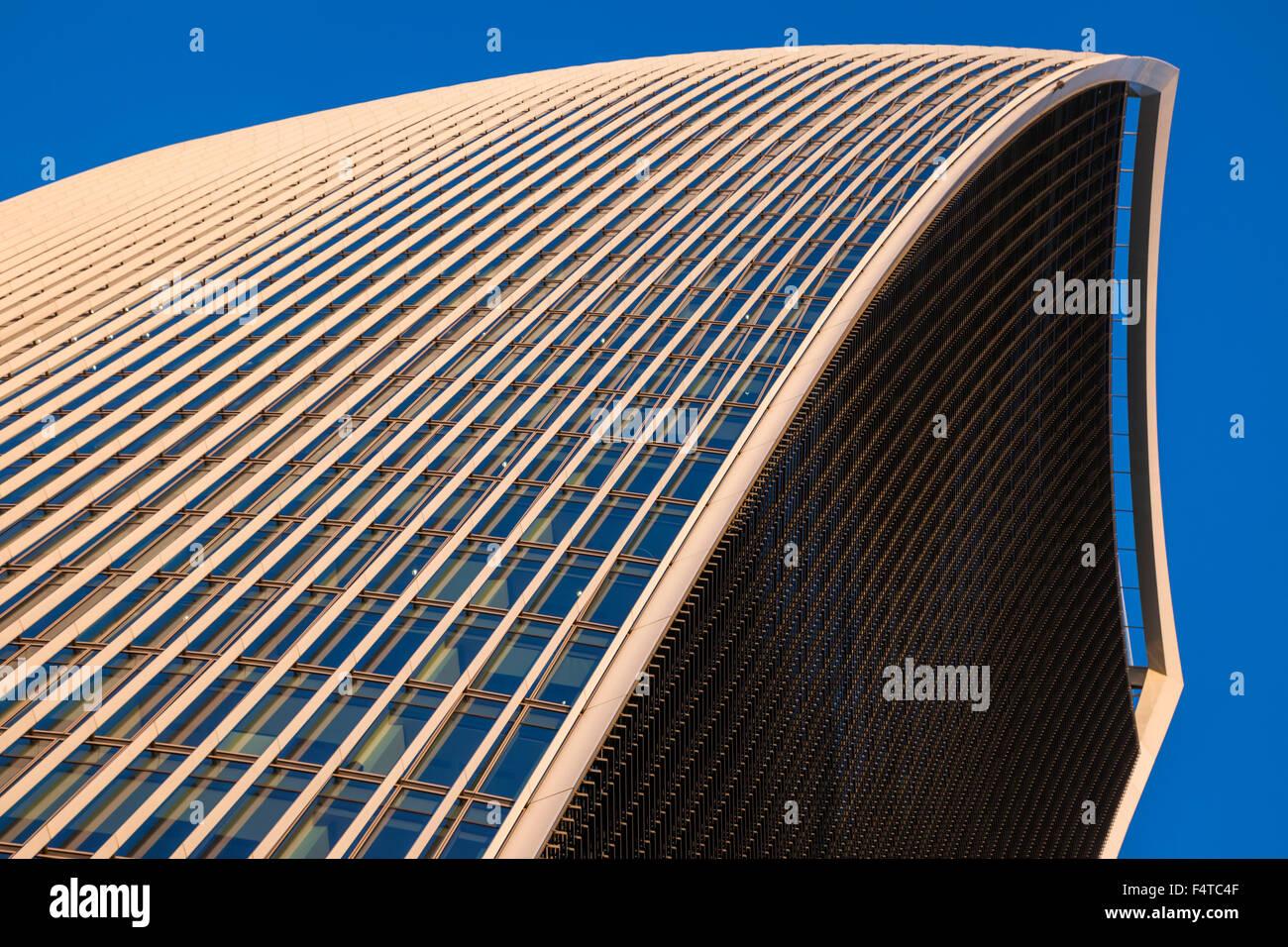 England, London, City, 20 Fenchurch Street aka The Walkie-Talkie Building, Architect Rafael Vinoly Stock Photo