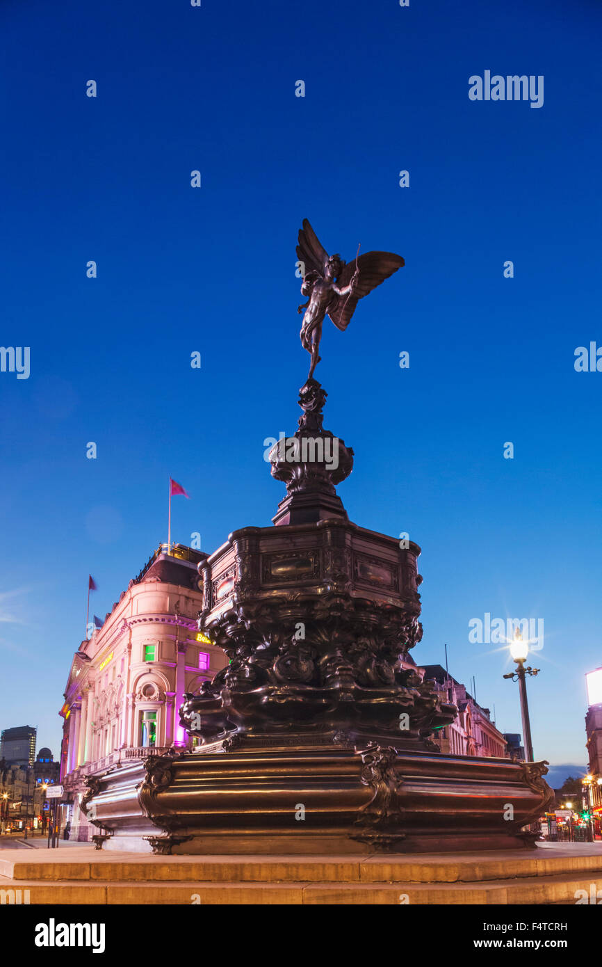 England, London, Piccadilly Circus, Eros Statue - Stock Image