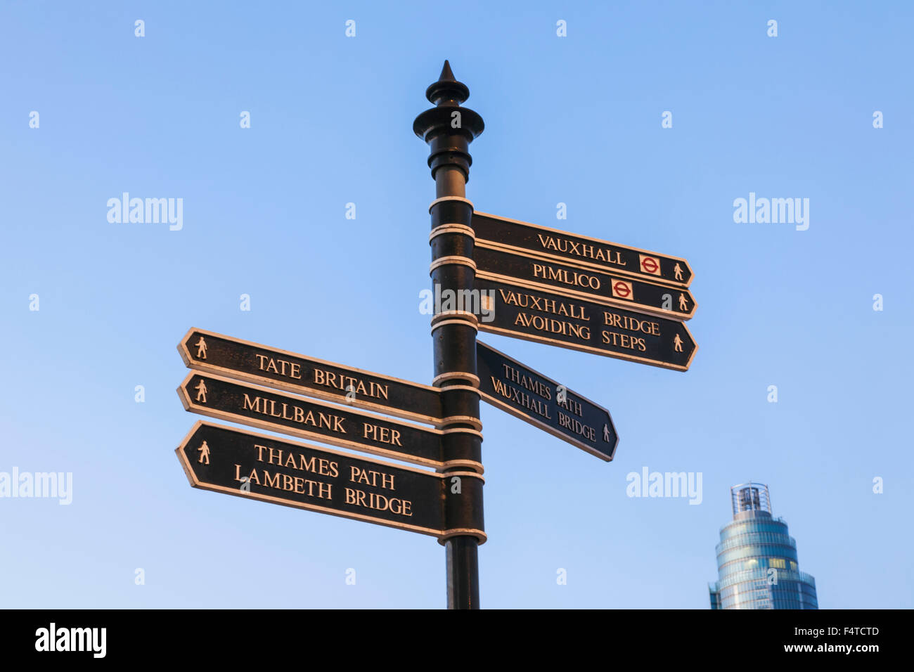 England, London, Westminster, Signpost - Stock Image