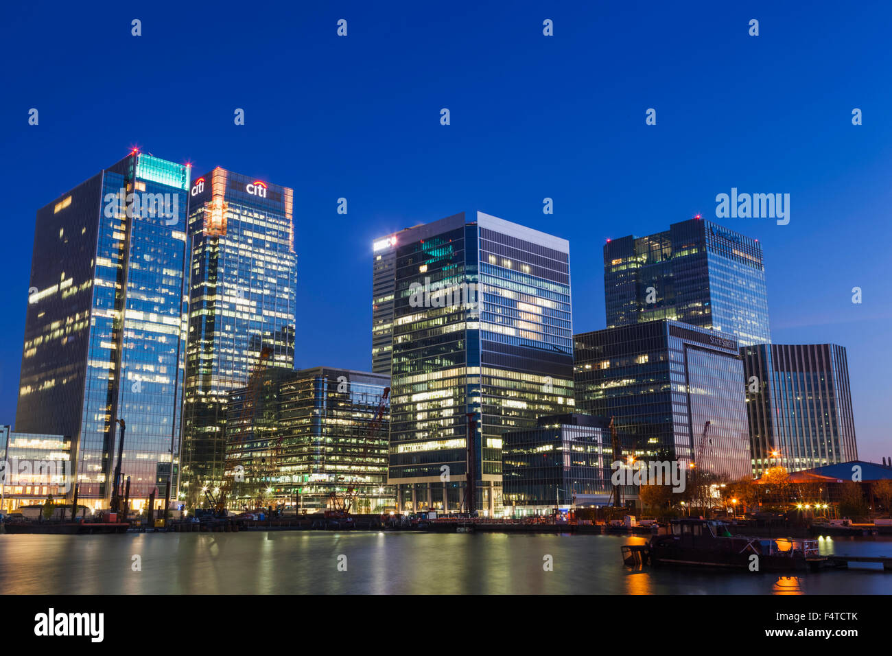 England, London, Docklands, Canary Wharf Stock Photo