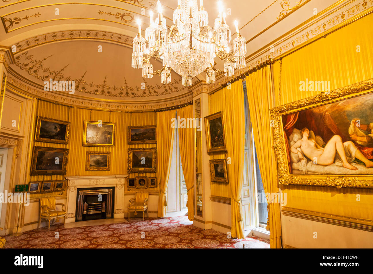 England, London, Westminster, Hyde Park Corner, Apsley House, The Piccadilly Suite - Stock Image