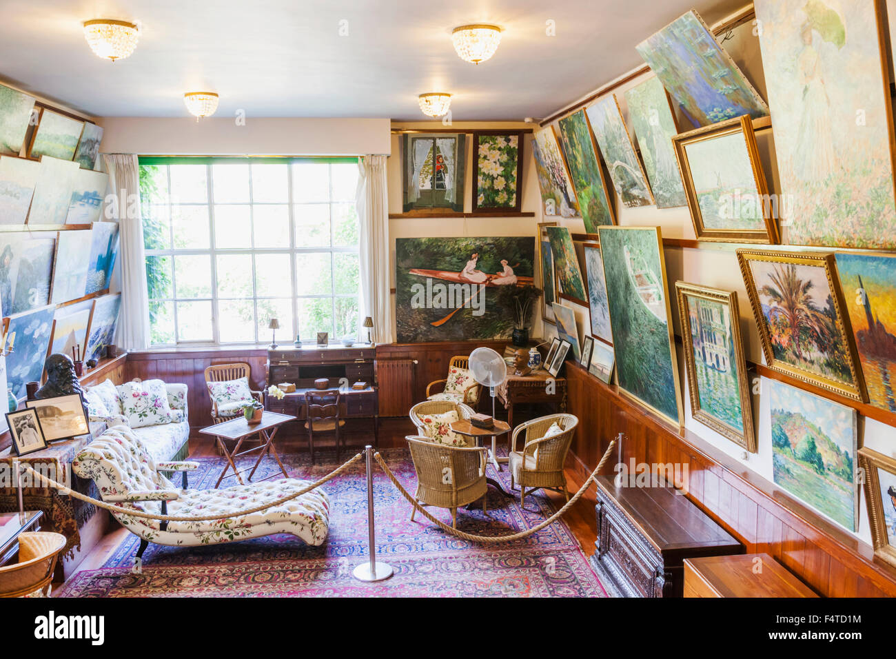 France, Normandy, Giverny, Monets Garden, Monet\'s House, Studio Room ...