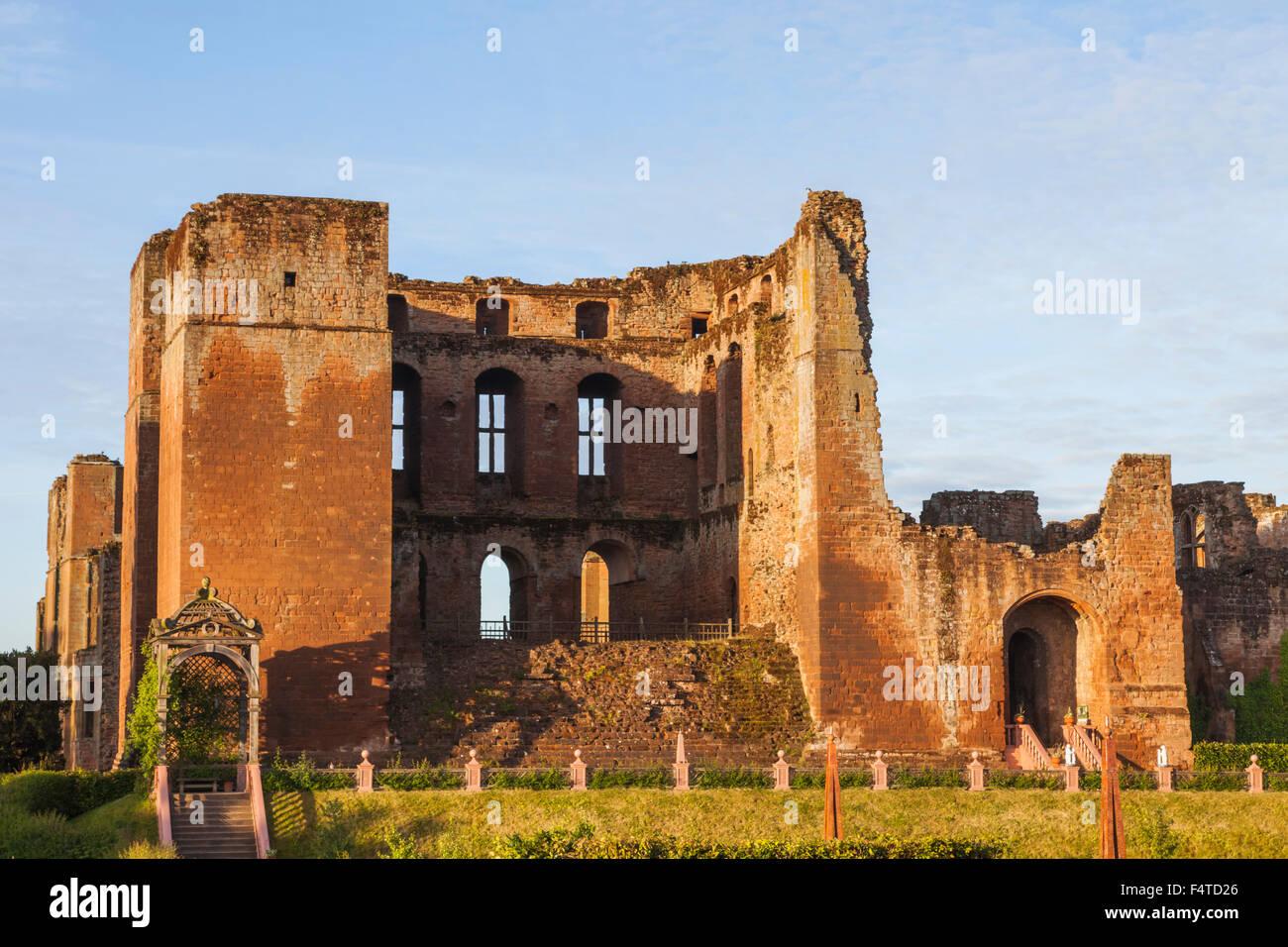 England, Warwickshire, Kenilworth, Kenilworth Castle - Stock Image