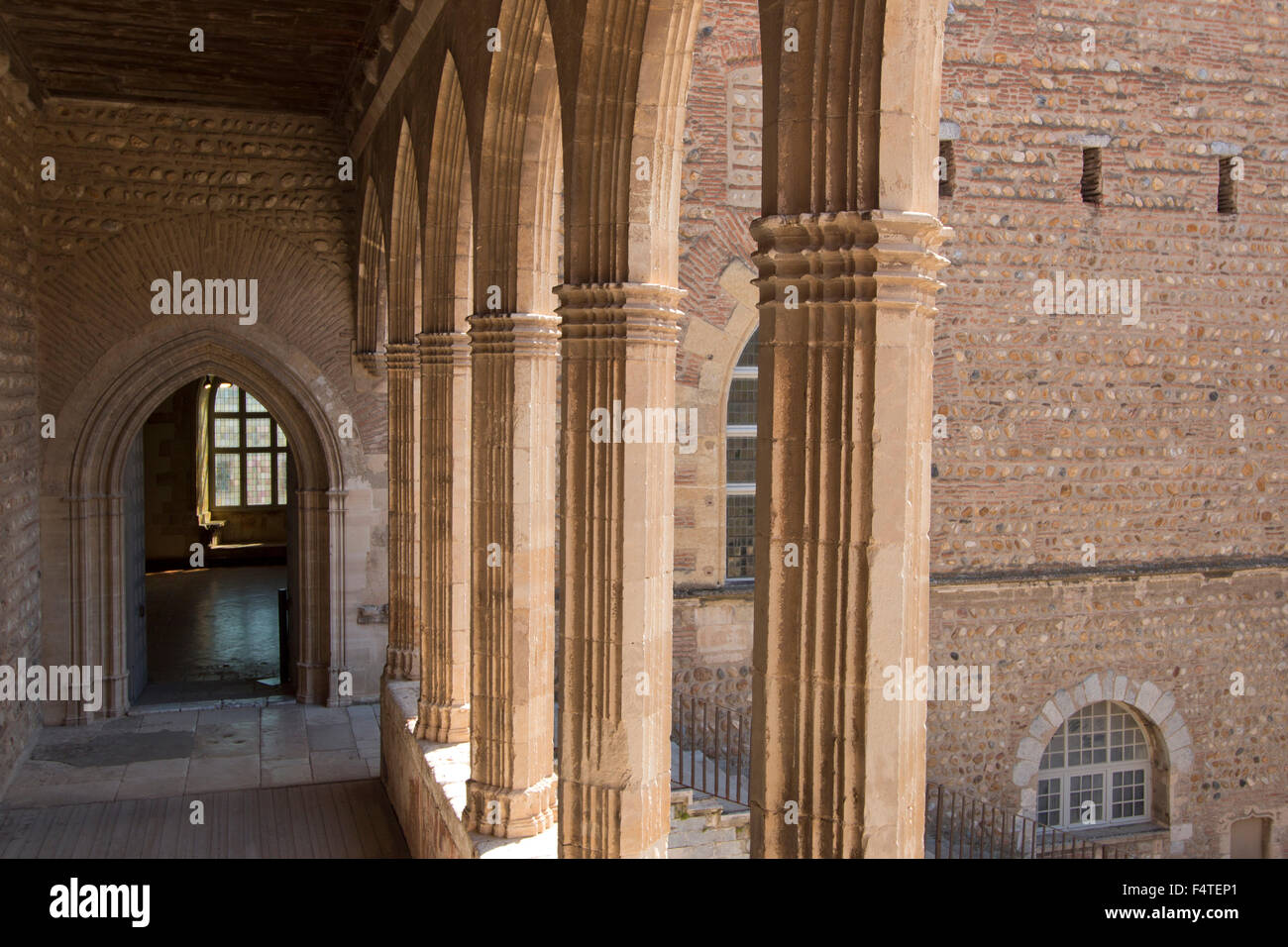 France, Europe, Perpignan, town, city, department Pyrenees-Orientals, Languedoc-Roussillon, castle, fortress, wall, - Stock Image