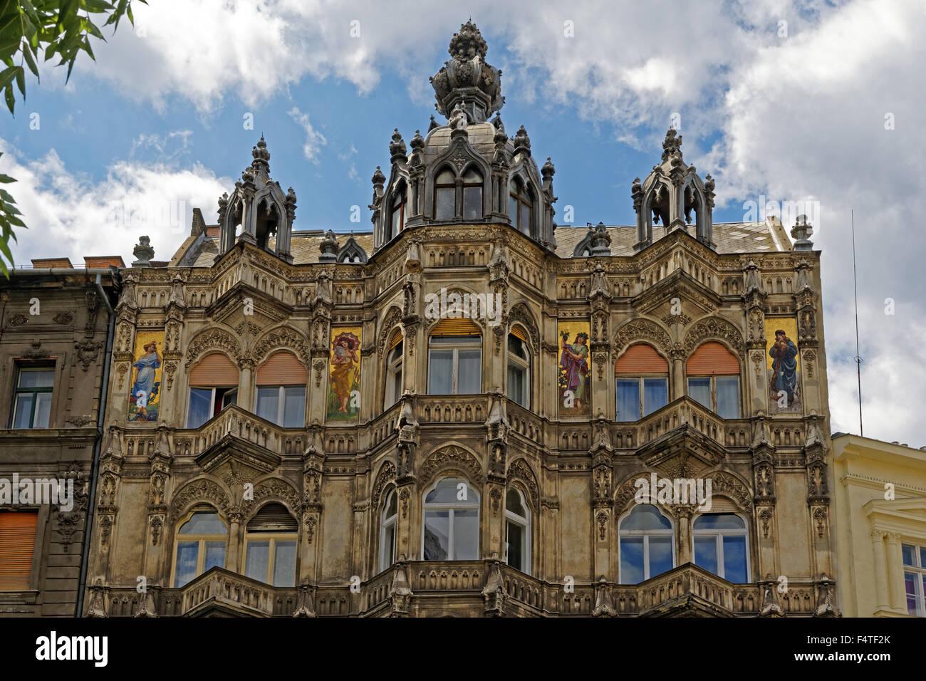 House facade, historically - Stock Image