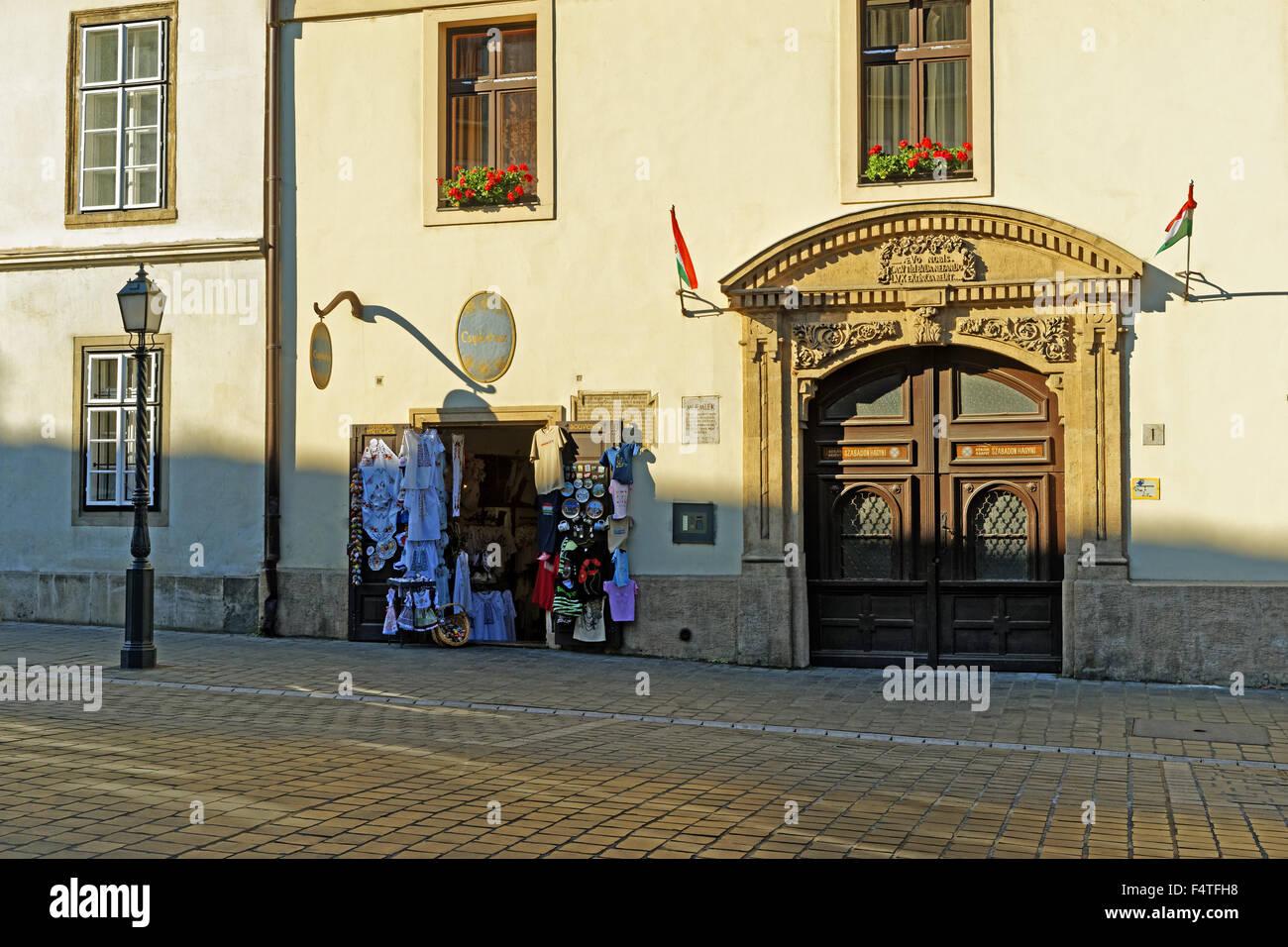 mount Buda, Souvenierladen, gate, historically - Stock Image
