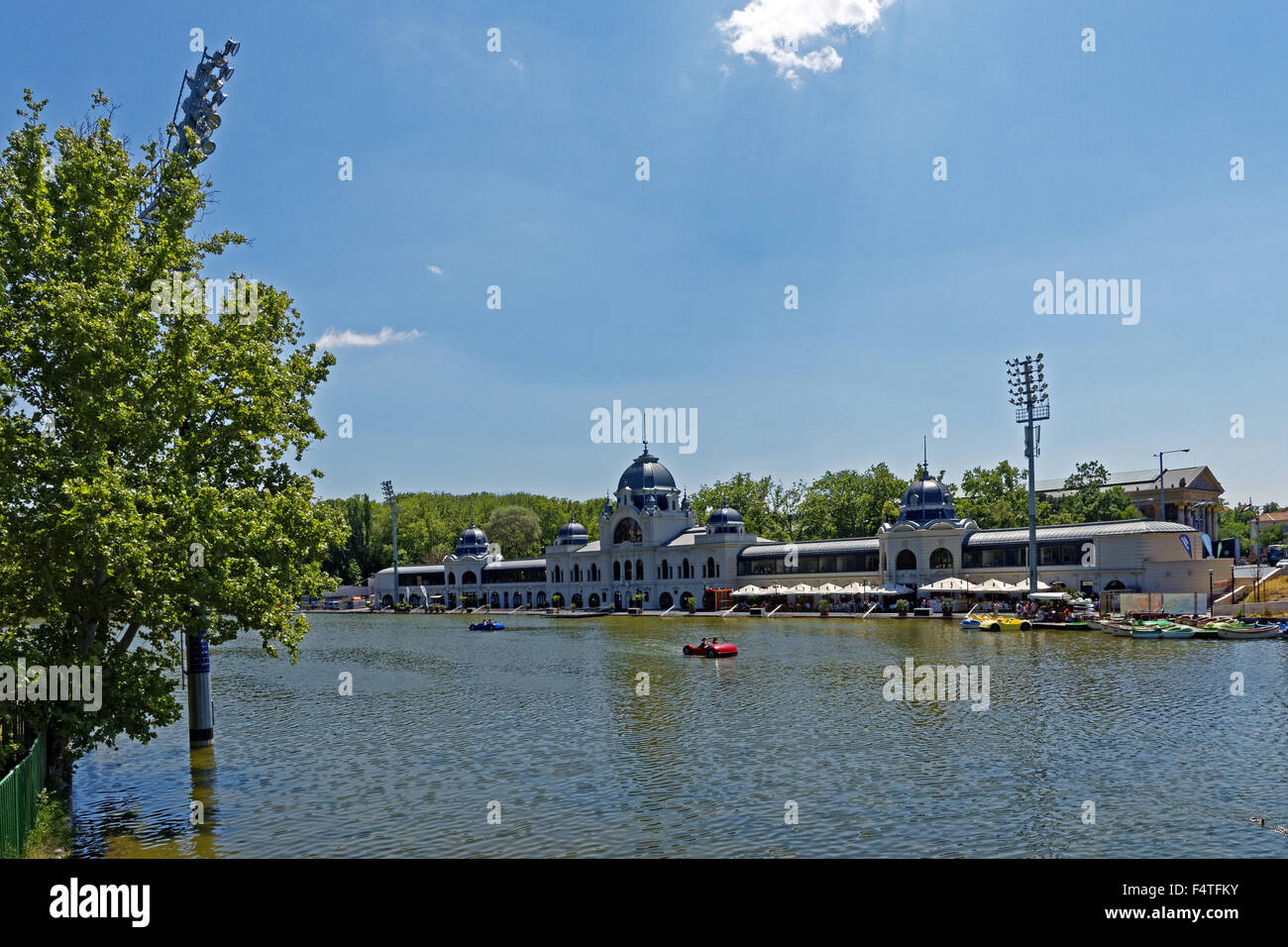 Town groves, Varosliget, sports center, oar pond - Stock Image