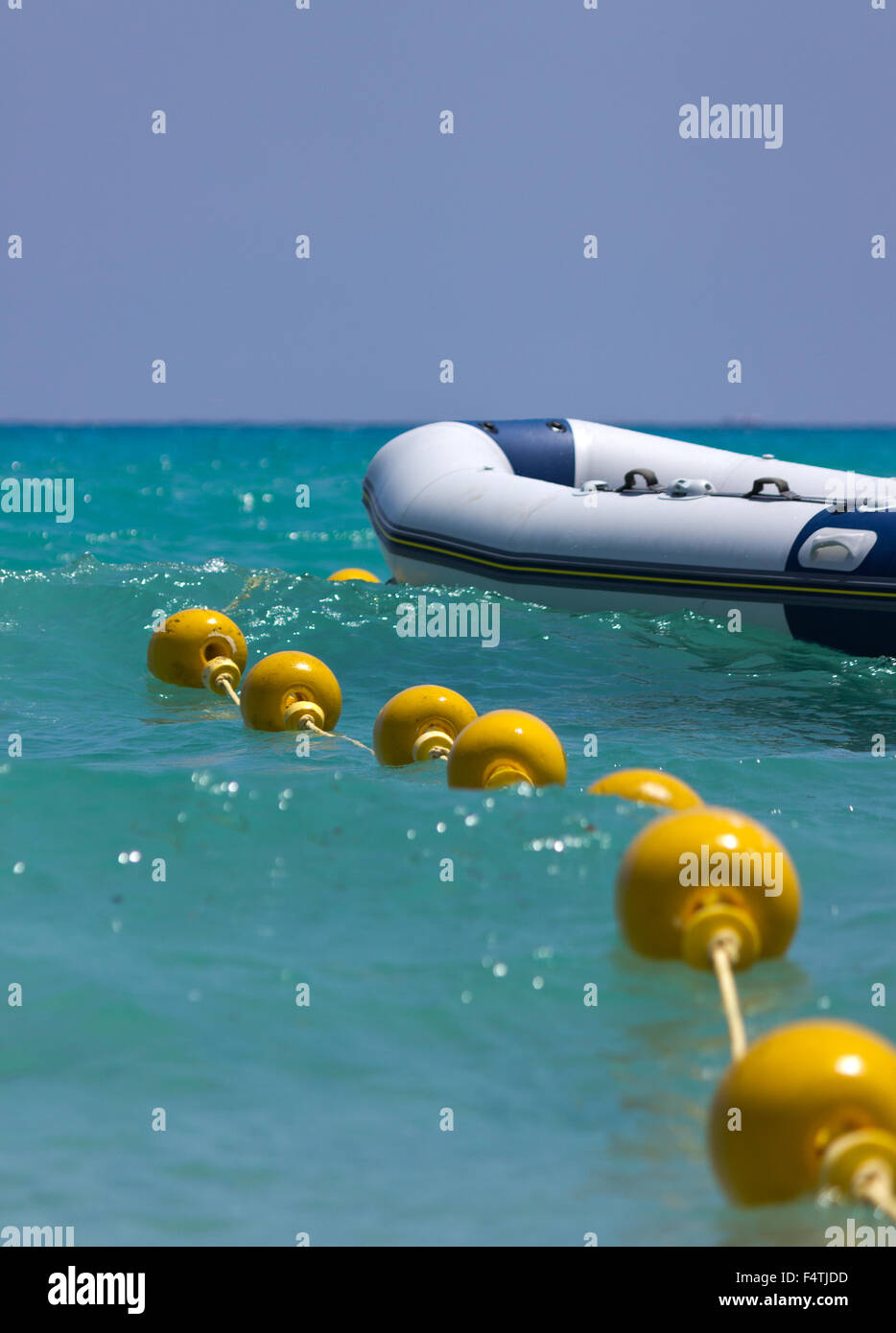 Boat and buoy - Stock Image
