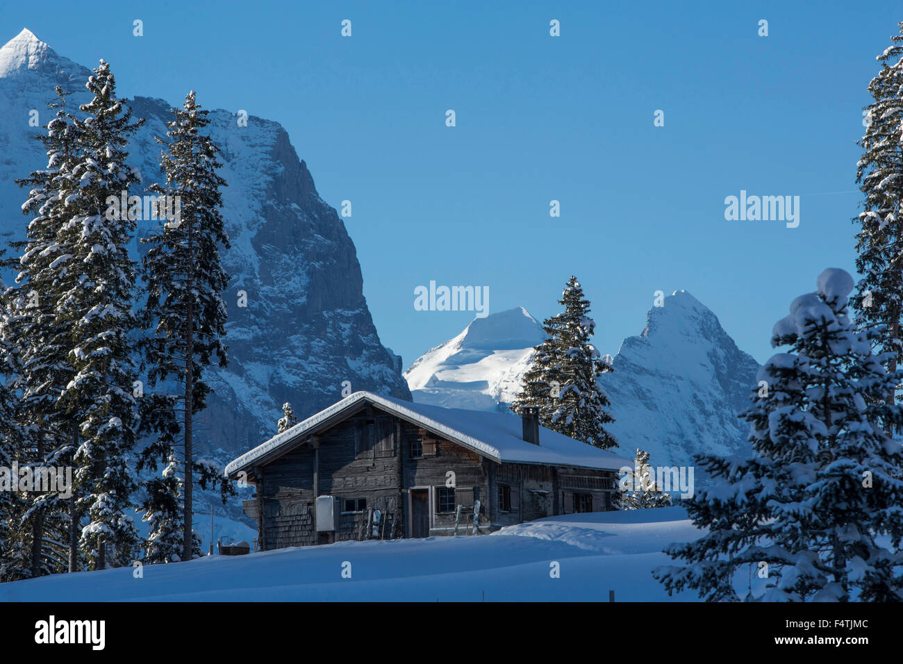 alp huts in Hasliberg, - Stock Image
