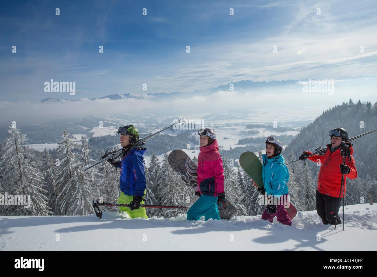 Winter sports in Atzmännig - Stock Image