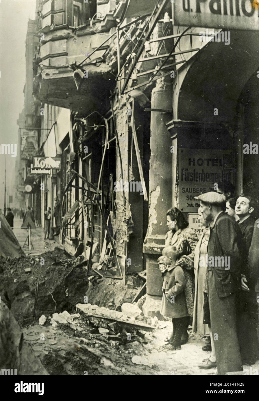 Bombed civilian targets in Germany by the British, World War II, Germany - Stock Image