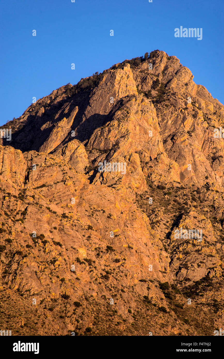 organ mountains, desert peaks, rocks, national monument, new Mexico, USA, America, landscape - Stock Image