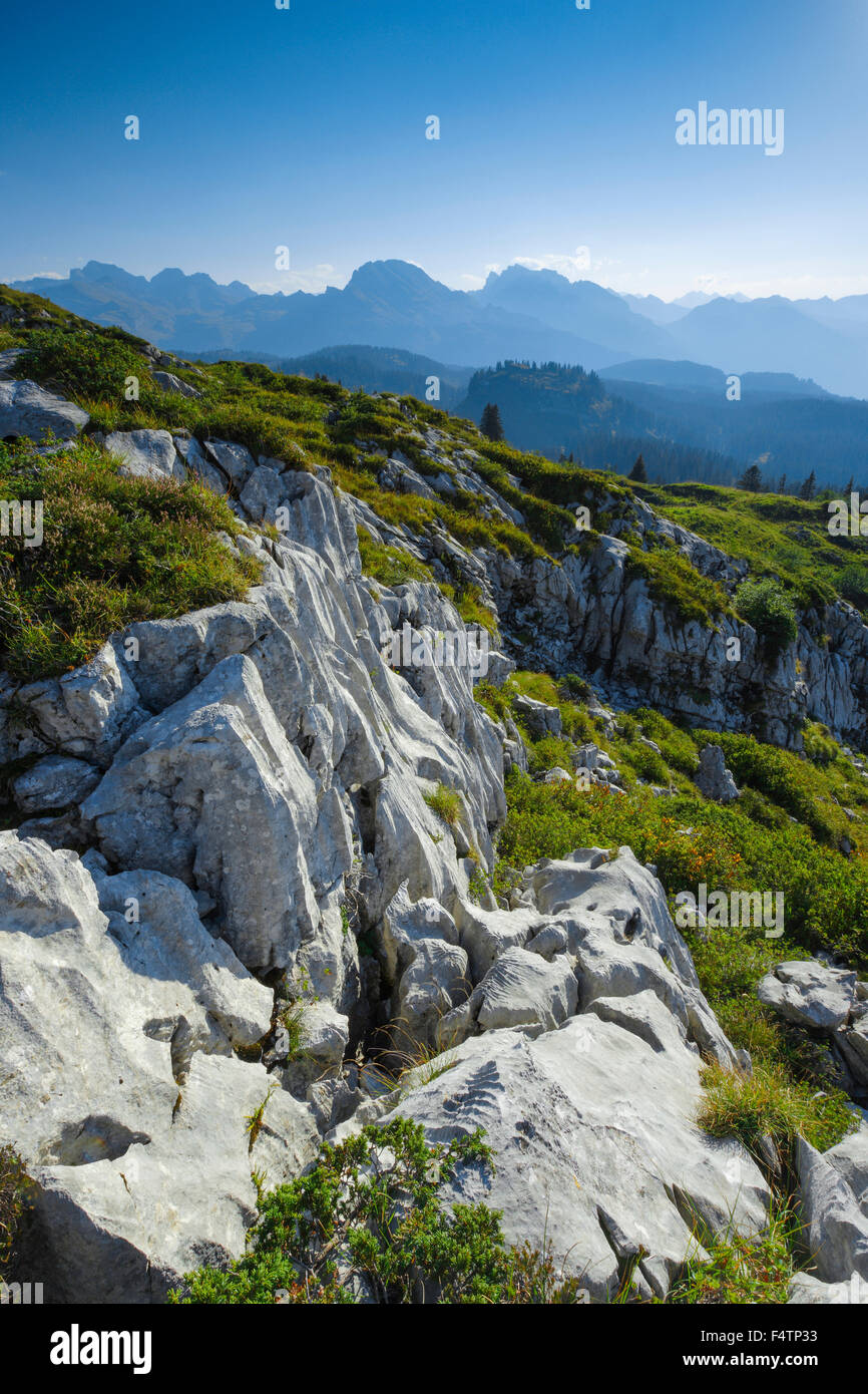 Karst on Pragel pass, Schwyz, Switzerland Stock Photo