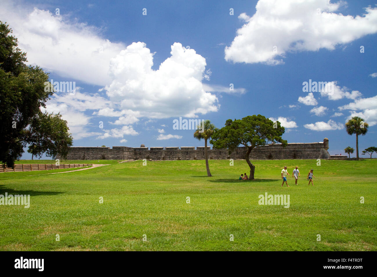 The Castillo de San Marcos is the oldest masonry fort in the continental United States, it is located at St. Augustine, - Stock Image