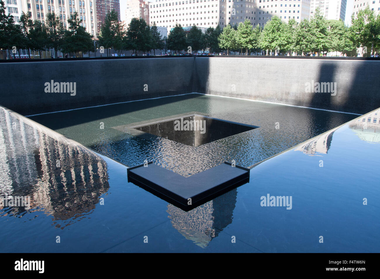 9/11 Memorial Pool - Stock Image