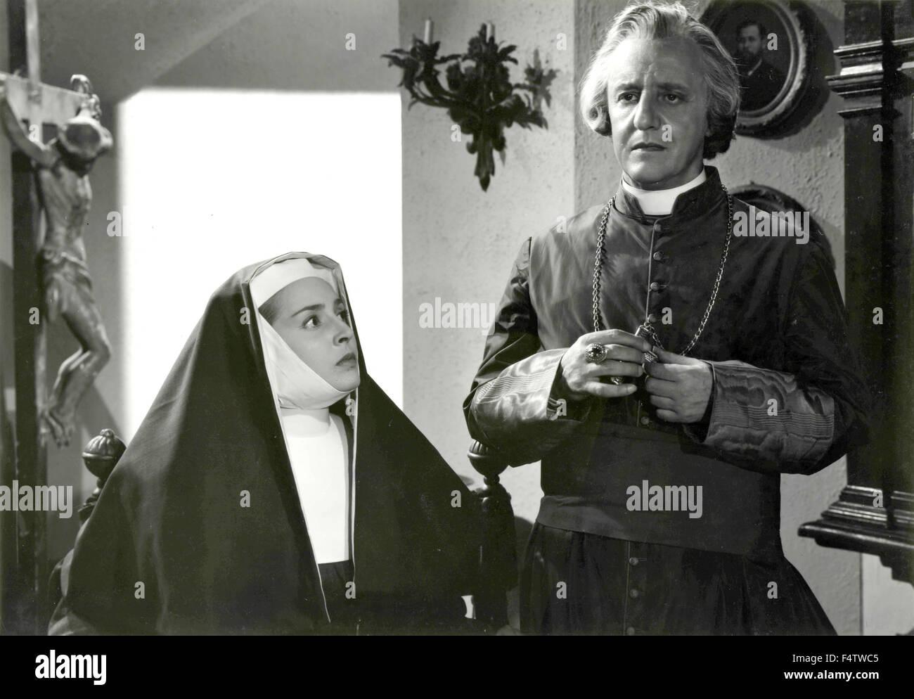 Italian actress Lea Padovani plays Sister Teresa in the movie 'The great renunciation', Italy - Stock Image