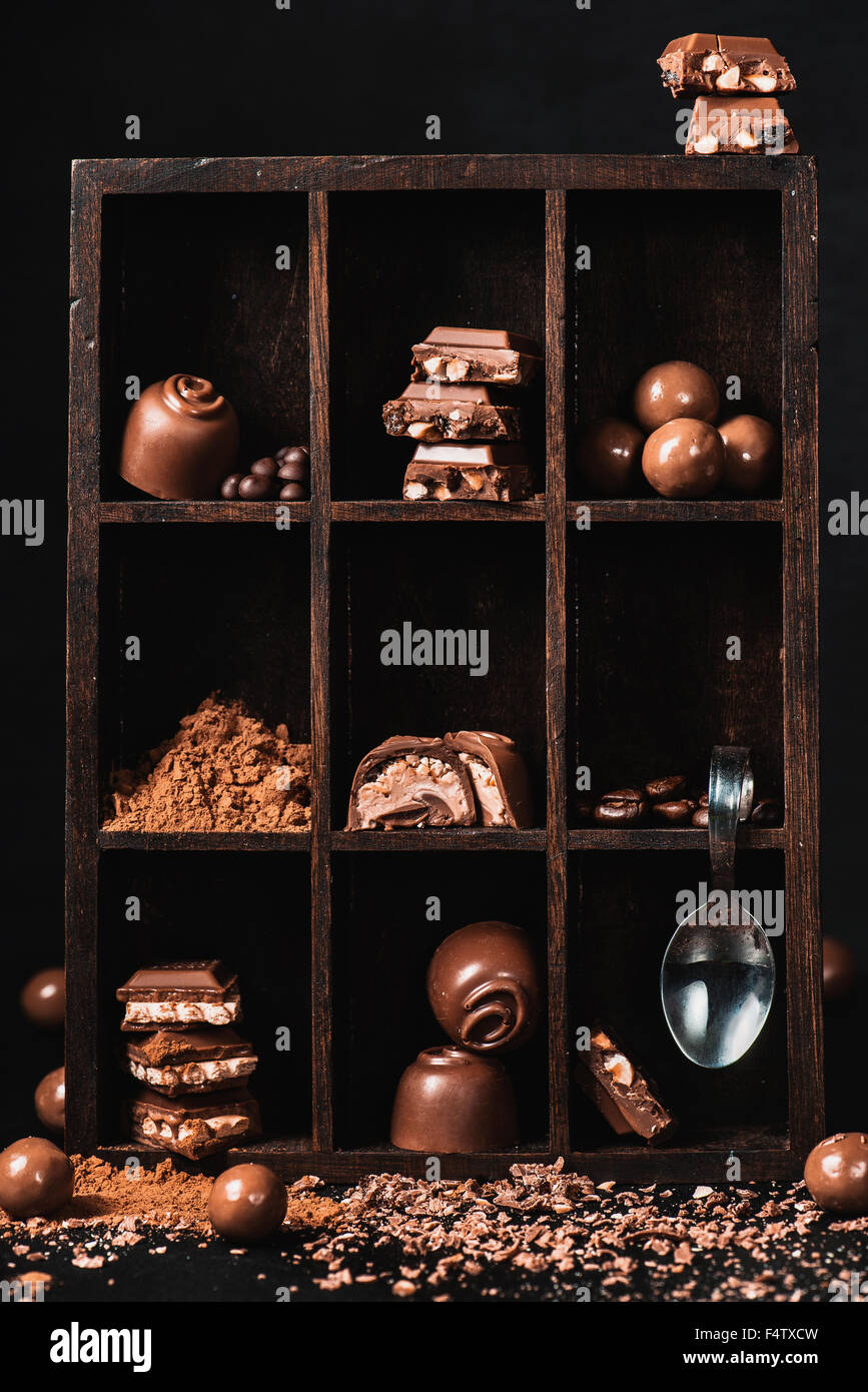 Chocolate collection - Stock Image