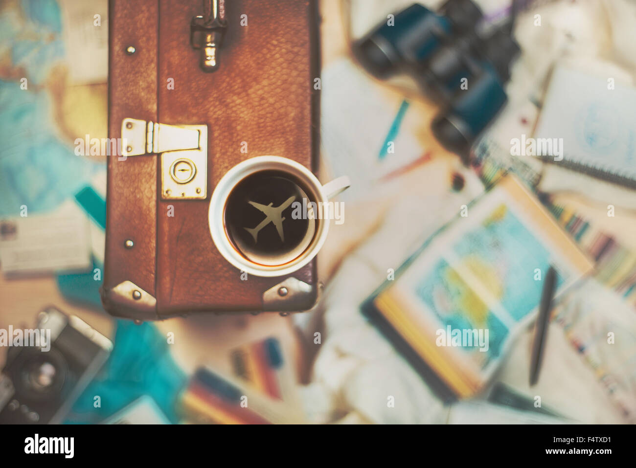 Coffee for travellers - Stock Image