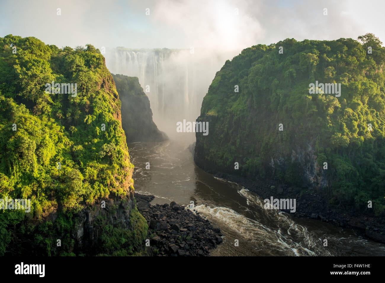 LIVINGSTONE, ZAMBIA - Victoria Falls Waterfall - Stock Image