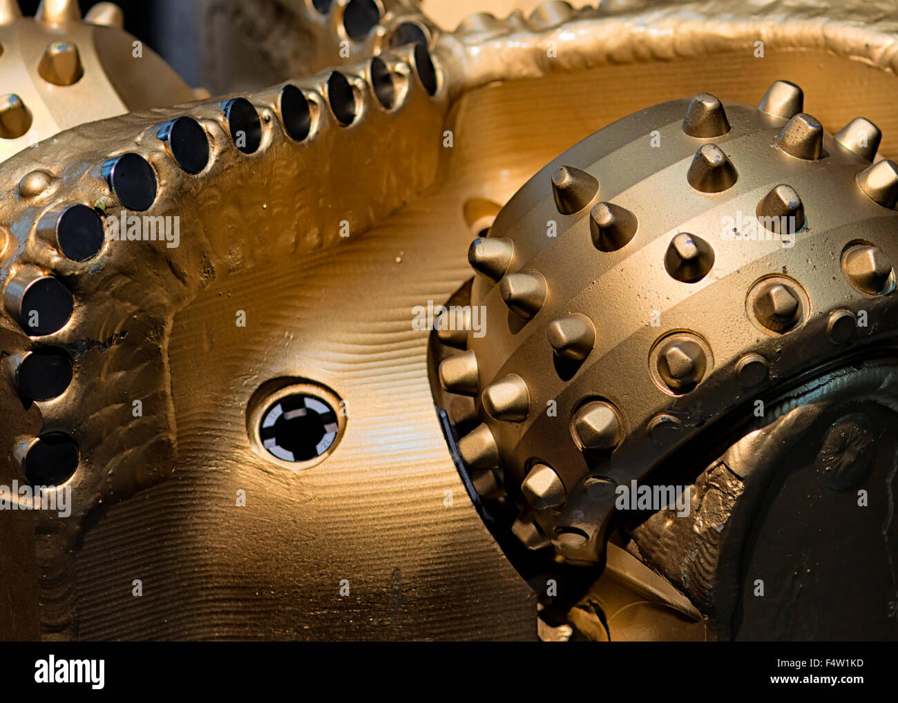 PDC Drill Bit with Synthetic Diamonds at Oil Museum in Stavanger, Norway - Stock Image