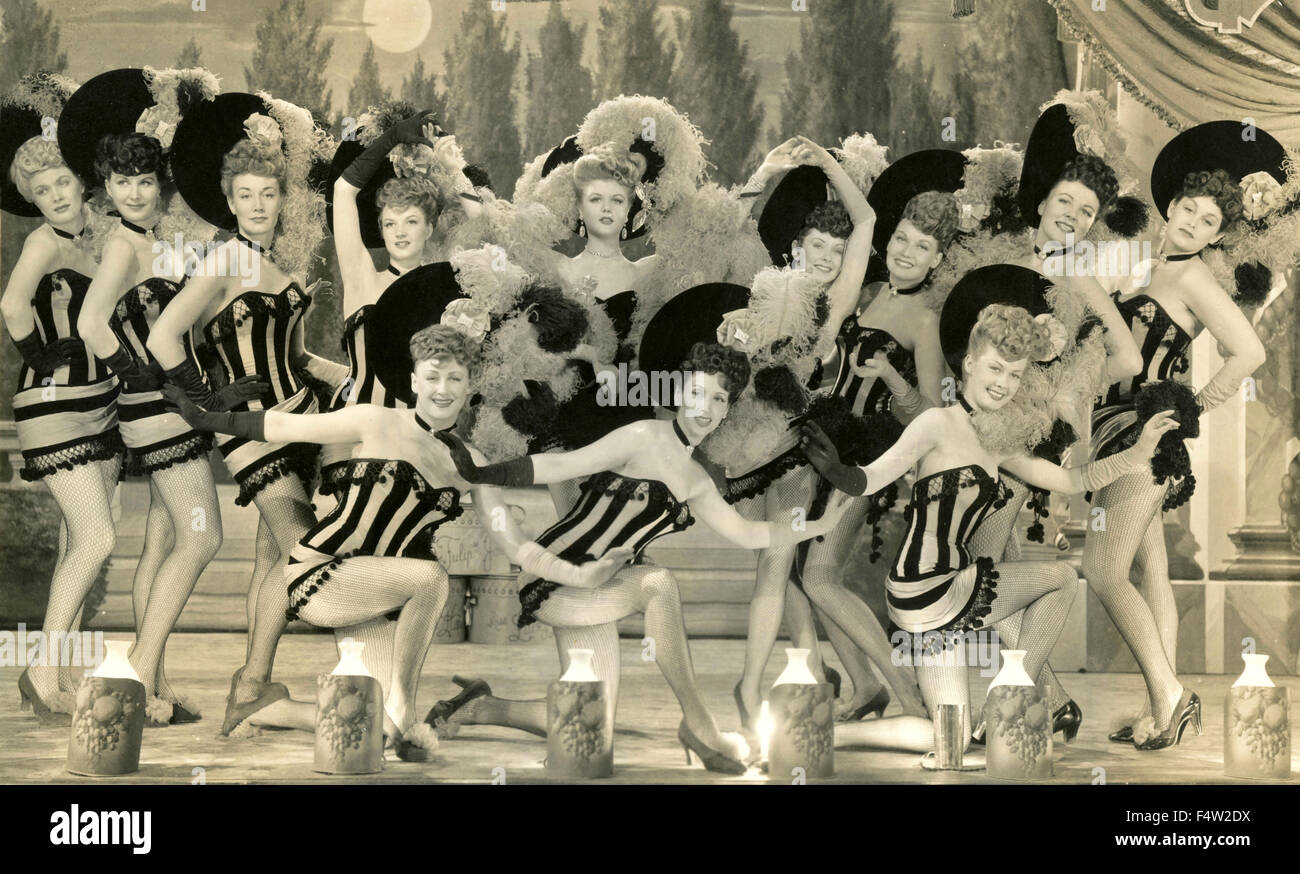 The British actress Angela Lansbury on Broadway in a ballet - Stock Image
