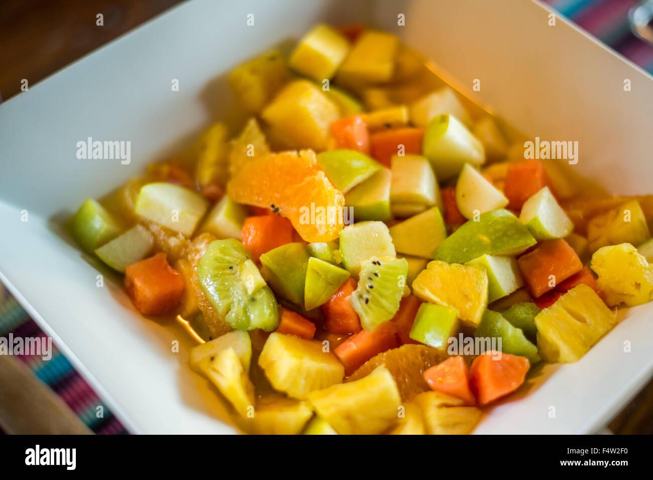 Kasane, Botswana - Fruit salad in bowl - Stock Image