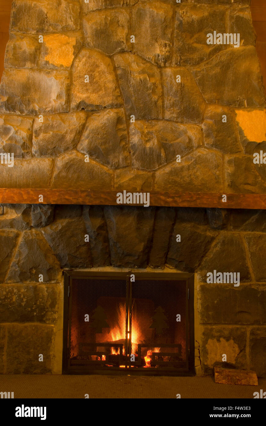 Incredible Fireplace At Silver Falls Lodge Build By Ccc Civilian Beutiful Home Inspiration Truamahrainfo