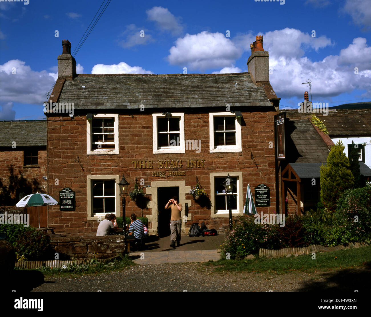 The Stag Inn, Dufton, Cumbria - Stock Image