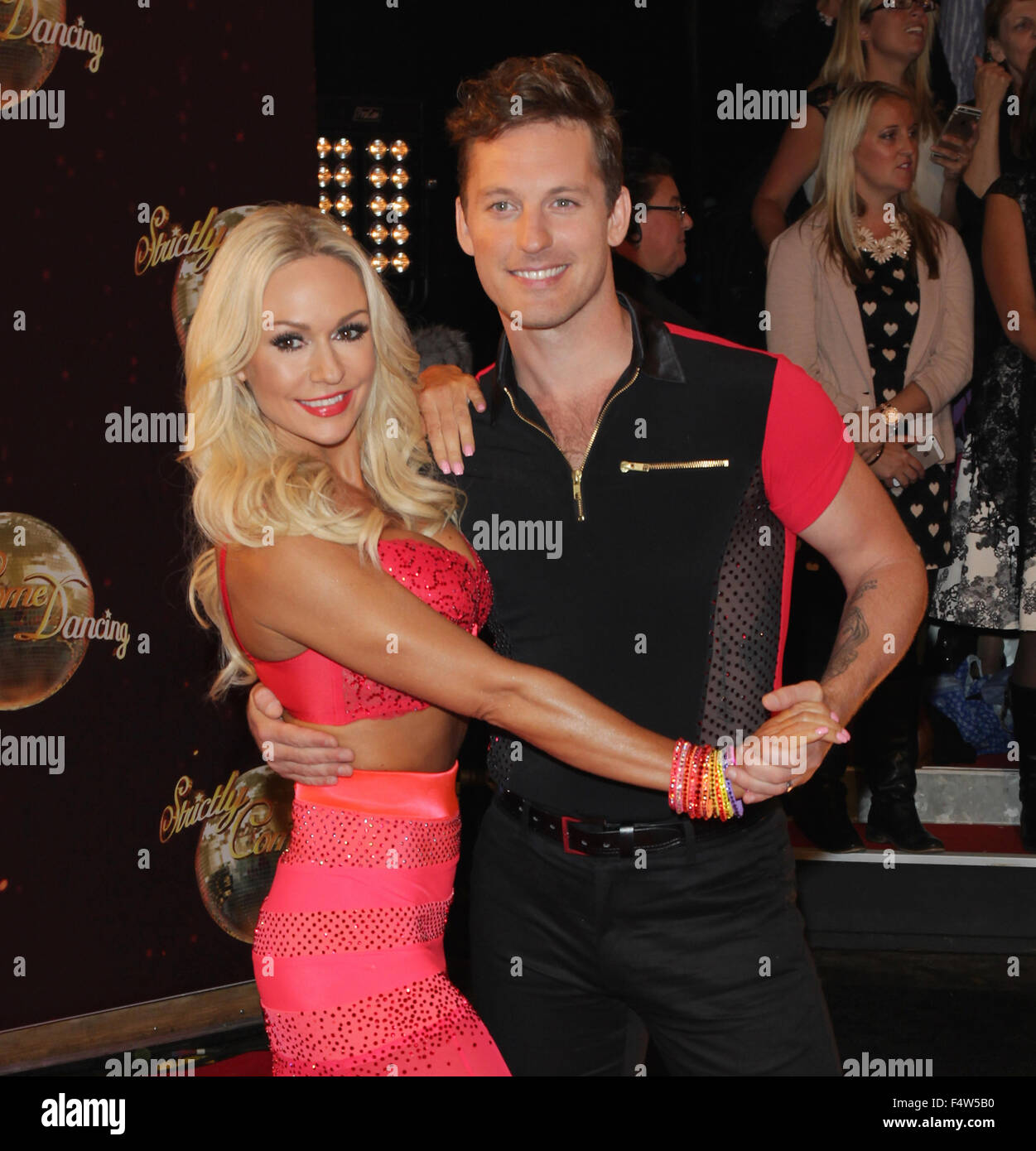 Borehamwood, UK, 1st Sep 2015: Kristina Rihanoff and Tristan MacManus attend the Strictly Come Dancing - red carpet - Stock Image