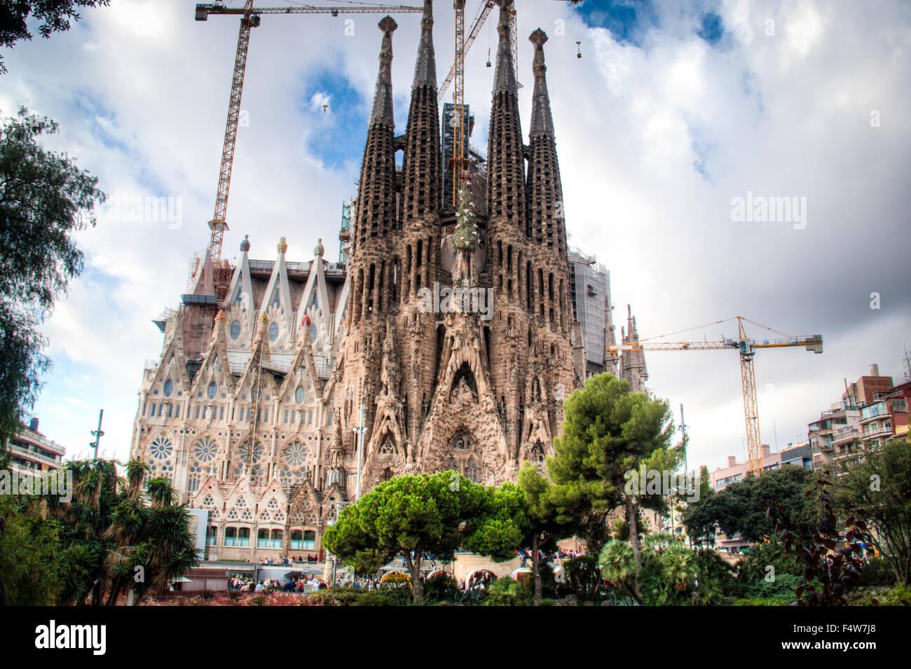 The Sagrada Familia in Barcelona, Spain - Stock Image