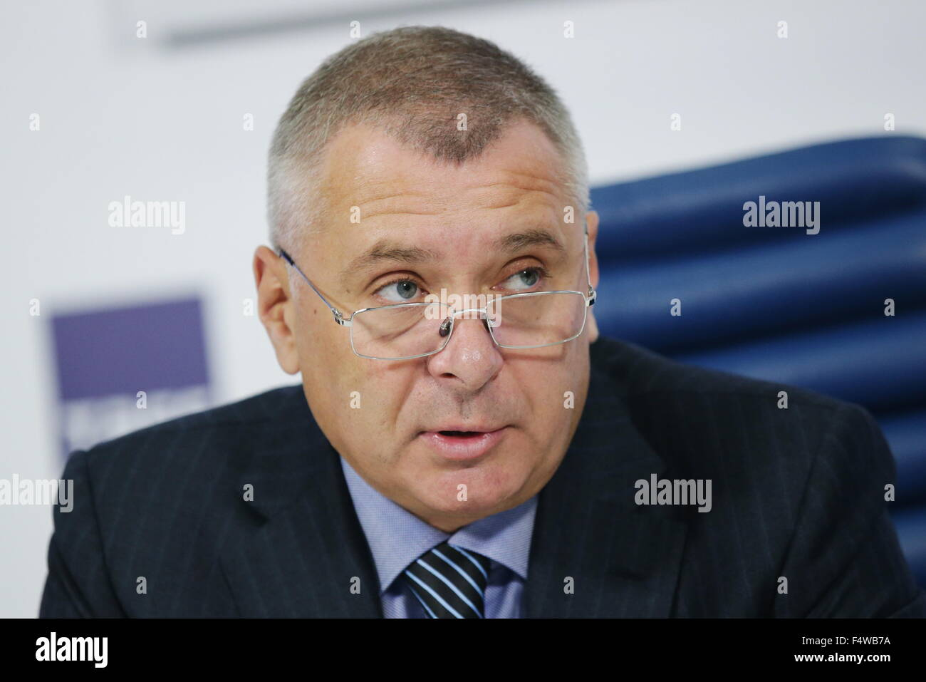 Moscow, Russia. 23rd Oct, 2015. Alexei Vorobyov, head of the Moscow Department for Physical Education and Sport, - Stock Image