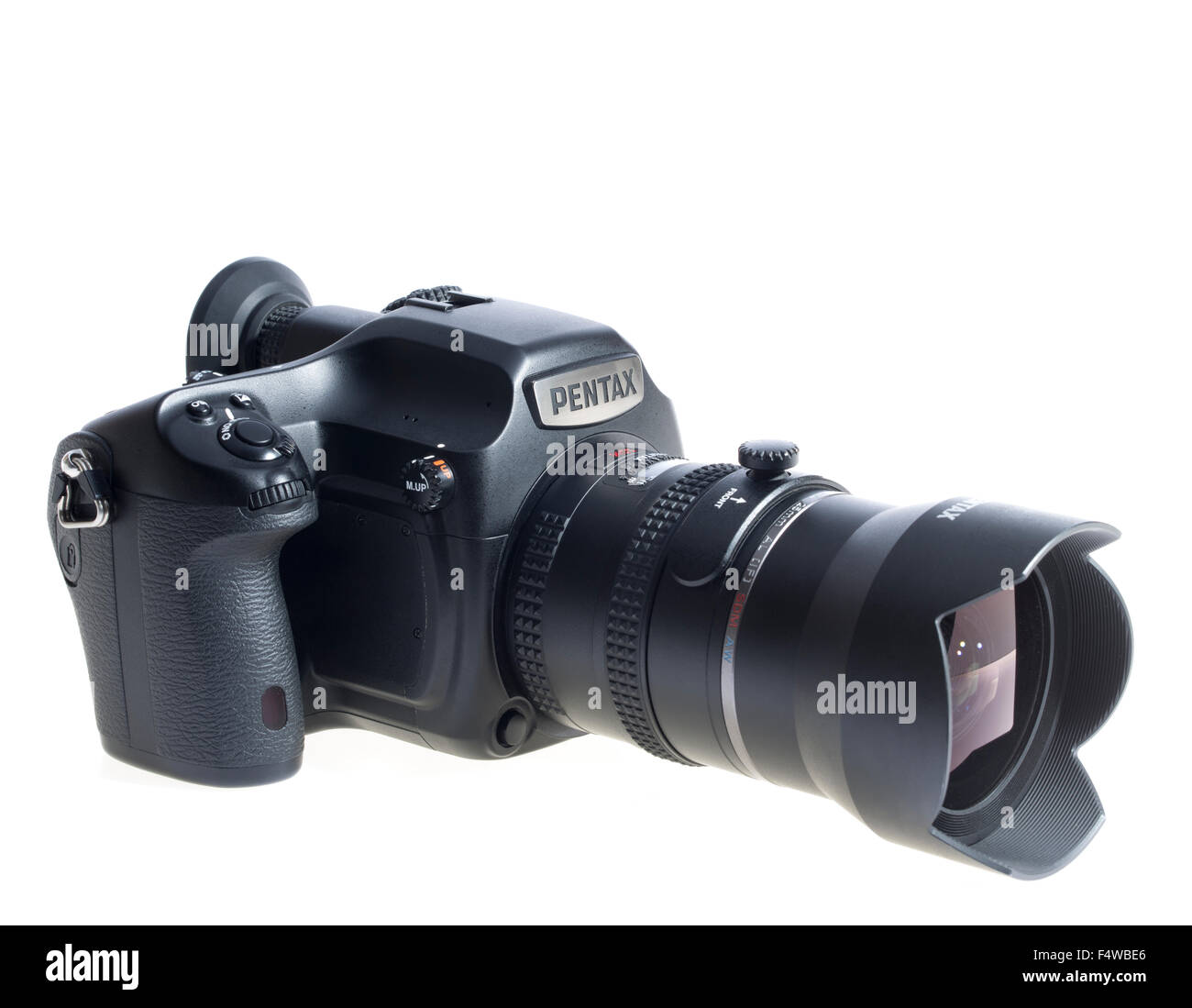 Pentax 645Z Medium Format Digital SLR Camera 53MP with 25mm wide angle lens. Professional Photography System. Released - Stock Image
