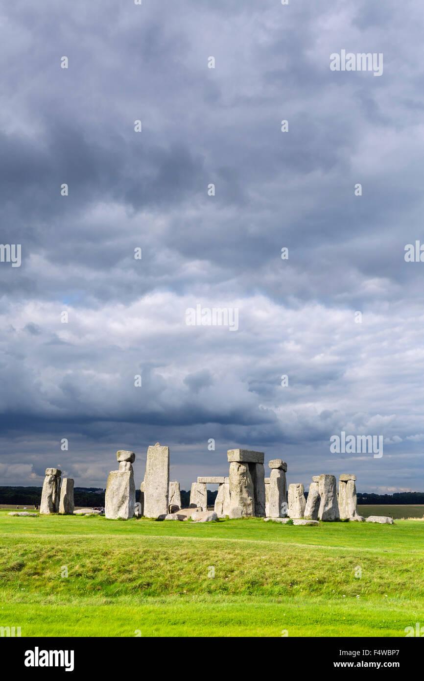 Stonehenge, near Amesbury, Wiltshire, England, UK Stock Photo