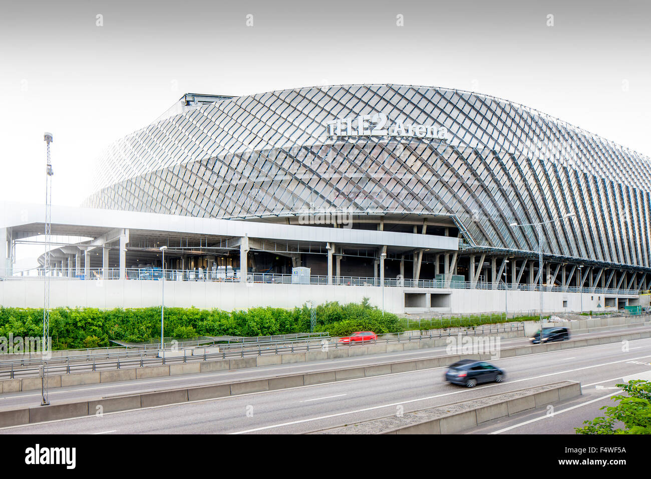 Sweden, Stockholm, View of Tele 2 Arena - Stock Image