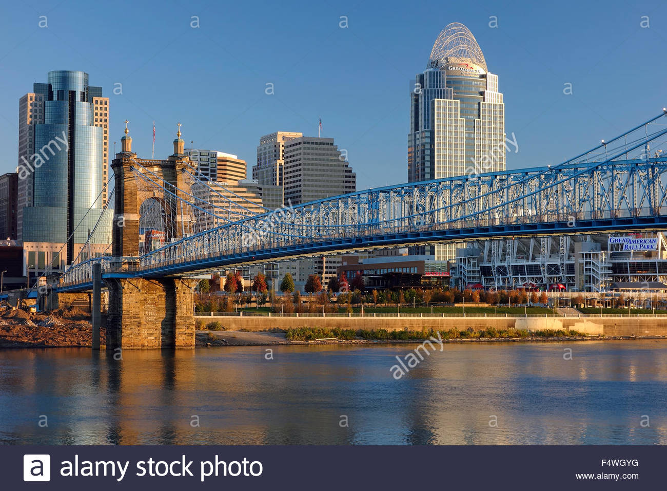 View of the city of Cincinatti, Ohio, USA - Stock Image