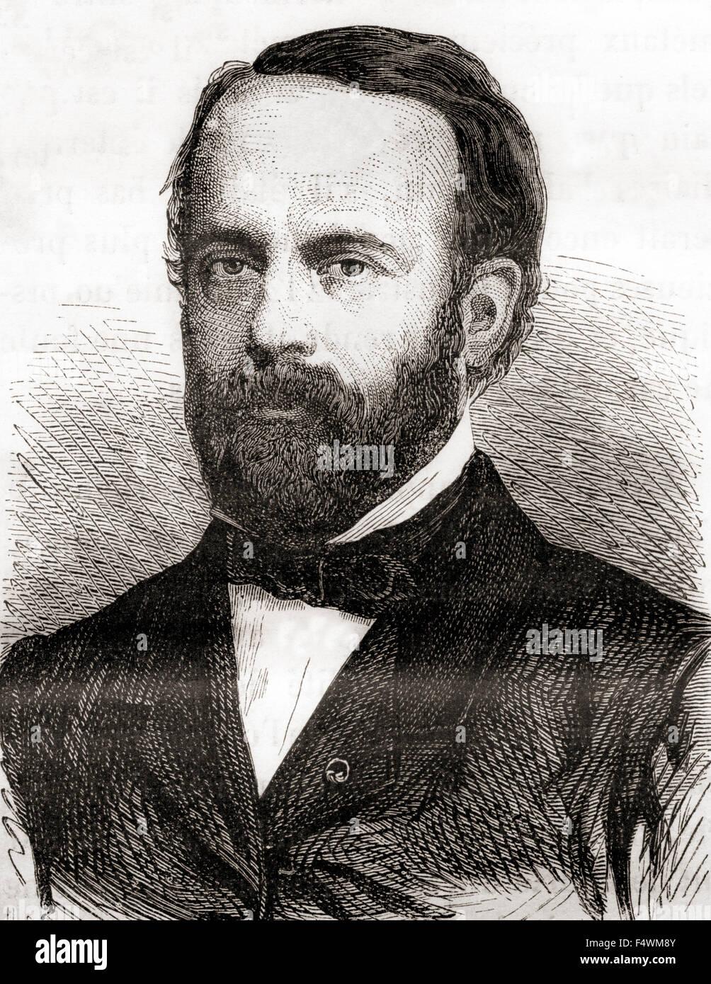 Henri Étienne Sainte-Claire Deville, 1818 - 1881.  French chemist. - Stock Image
