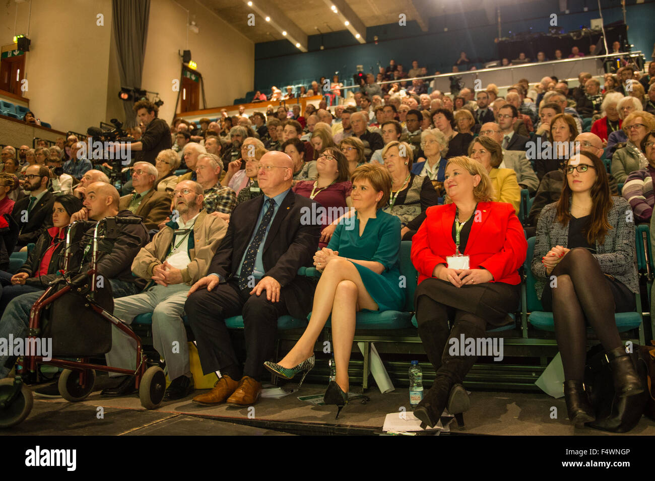 Aberystwyth Wales UK, Friday 23 October 2015  UK Politics: Scotland's First Minister and leader of the Scottish - Stock Image