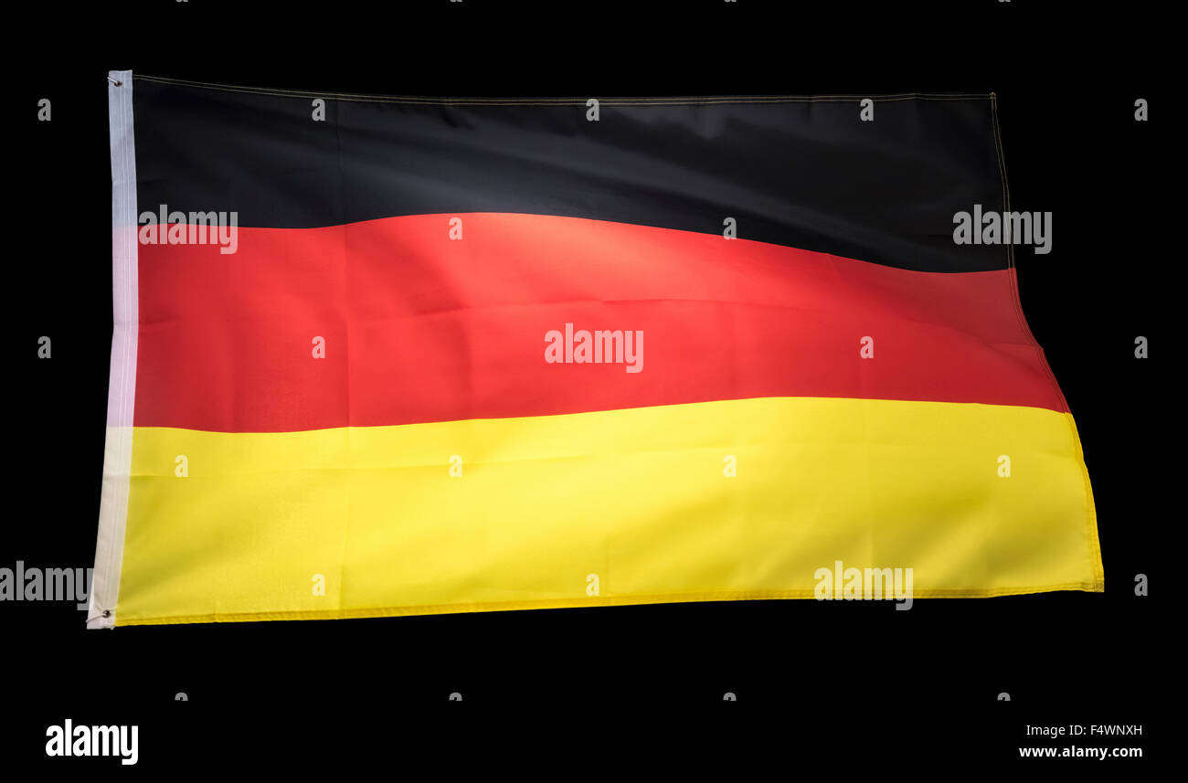 germany flag, german flag, deutschland flag - Stock Image