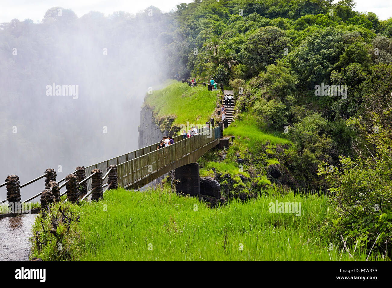 Path to Victoria falls in Livingston - Stock Image