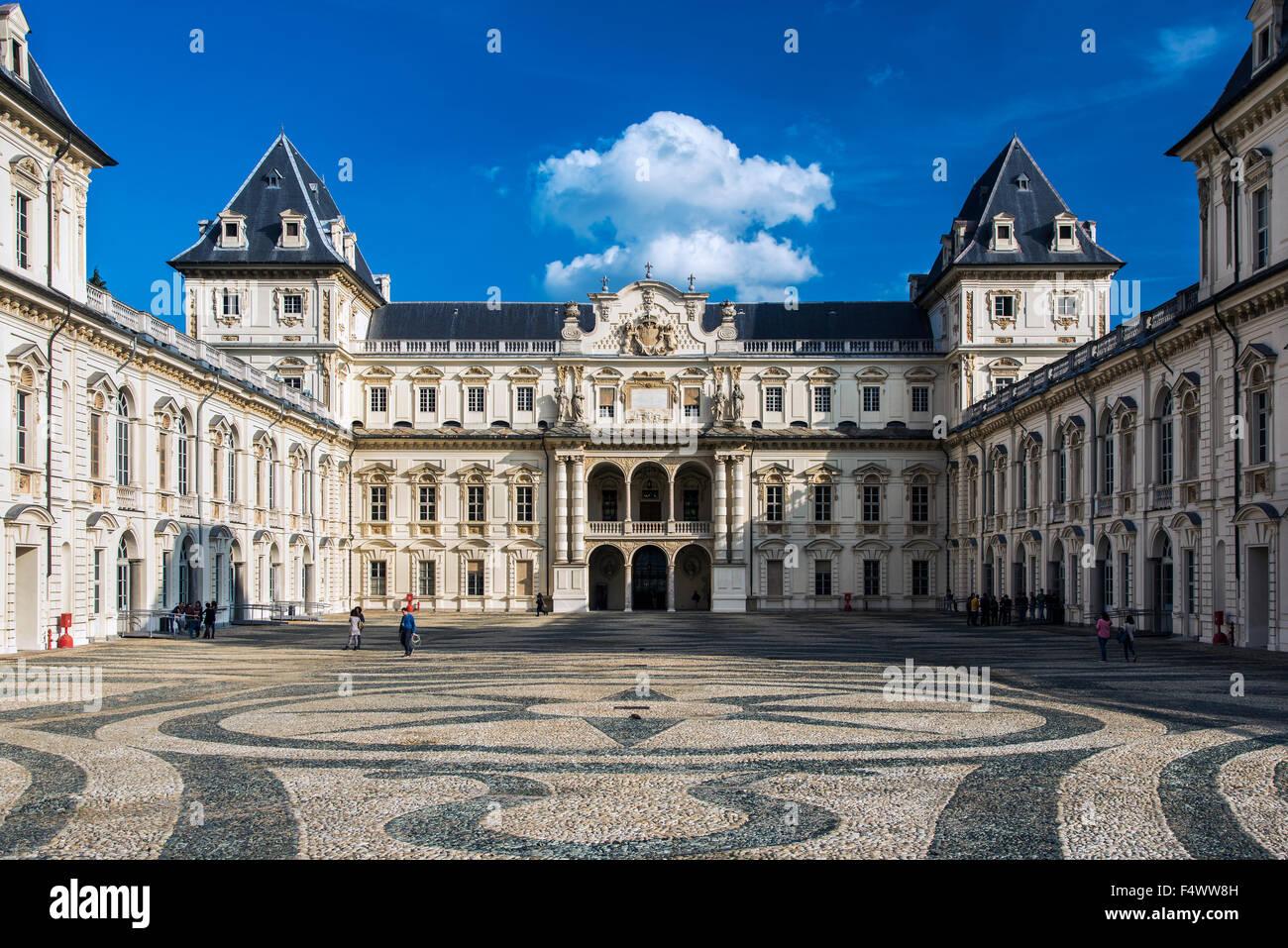 Valentino Castle or Castello del Valentino, Turin, Piedmont, Italy - Stock Image