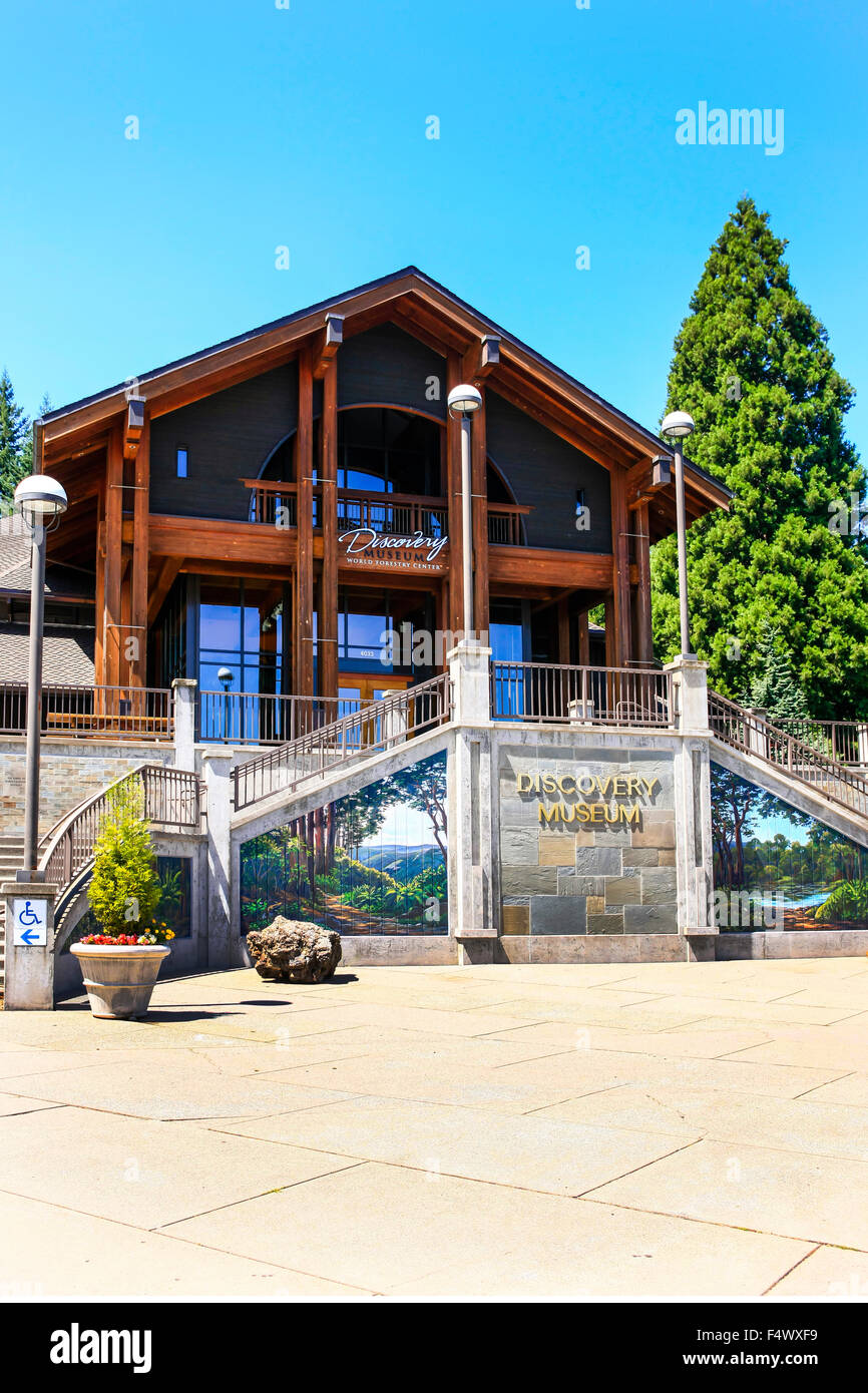 World Forestry Discovery Museum in Washington park, Portland Oregon - Stock Image