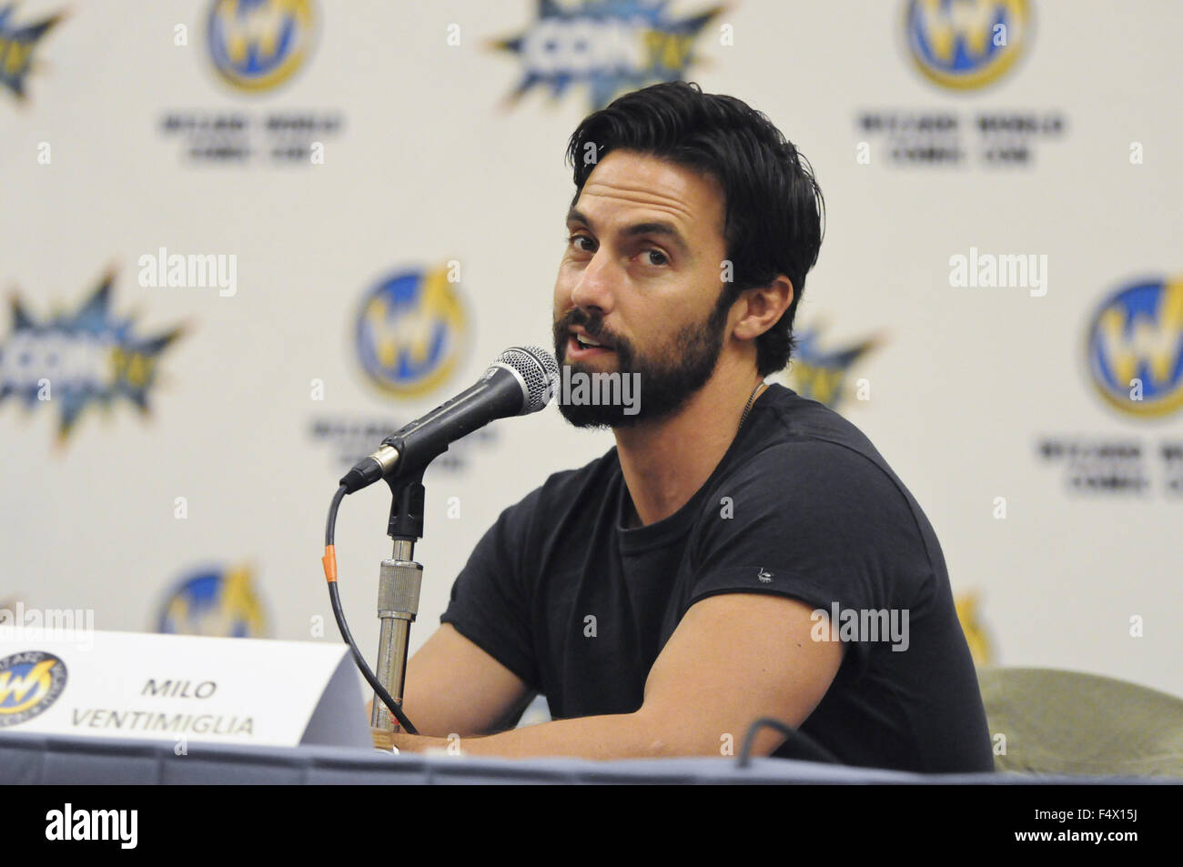 9b4001a54 Wizard World Comic Con Chicago 2015 at the Donald E. Stephens Convention  Center in Rosemont - Day 2 - Inside Featuring: Milo Ventimiglia Where:  Rosemont, ...
