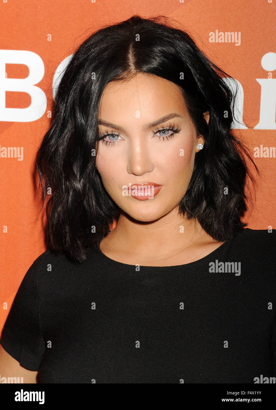 NATALIE HALCRO US TV personality in August 2015. Photo Jeffrey Mayer - Stock Image