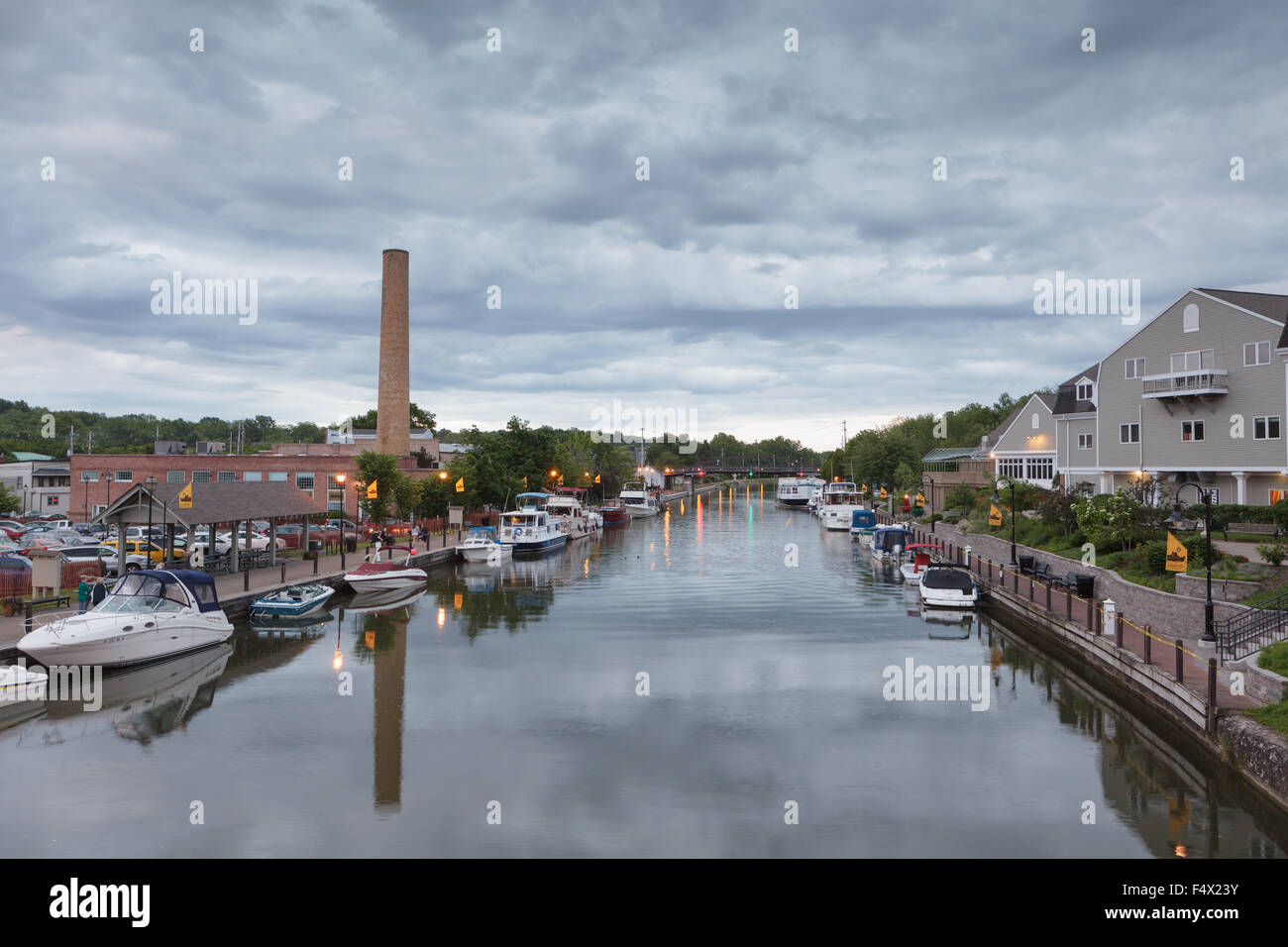 Erie Canal, Fairport, Monroe County, New York State, USA - Stock Image