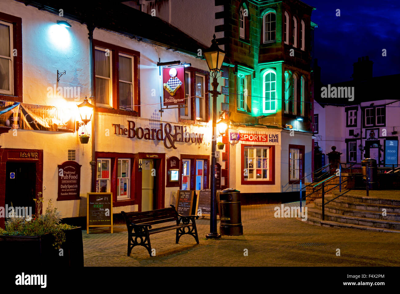 The Board & Elbow pub in Penrith, Cumbria, England UK - Stock Image