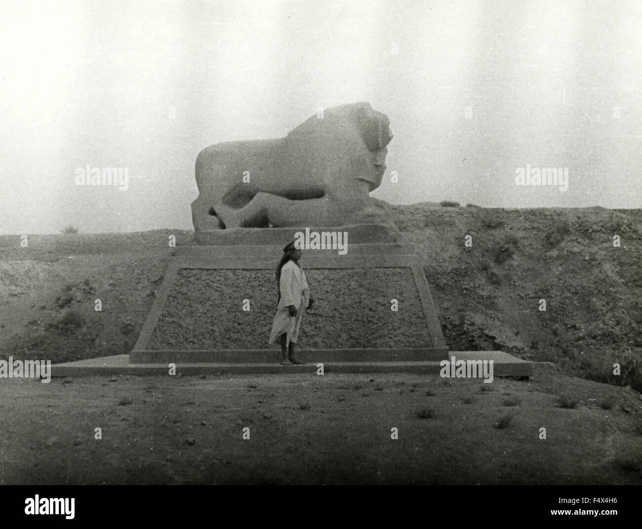 The Lion of Babylon, Iraq Stock Photo