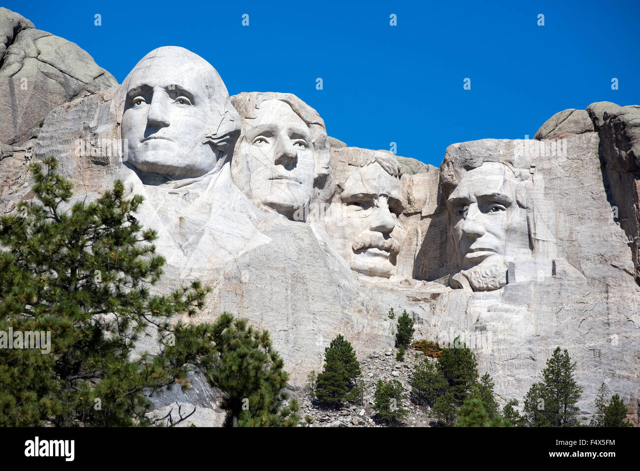 Mt. Rushmore National Memorial is located in southwestern South Dakota, USA. - Stock Image
